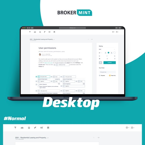 Bootstrap design with the title 'BrokerMint'