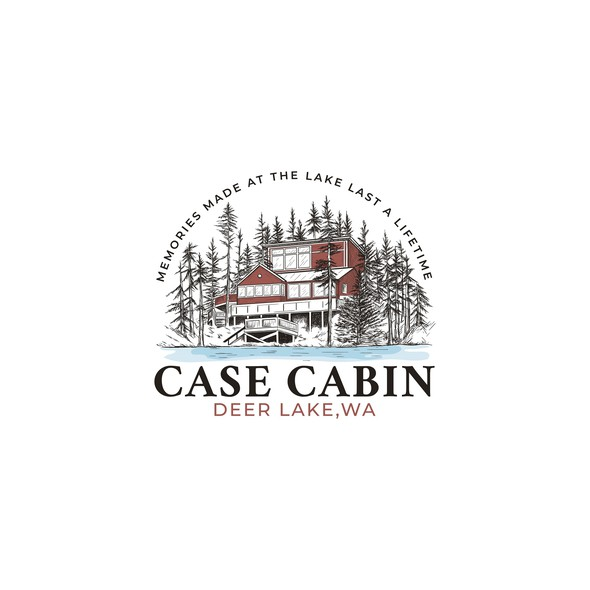 Lake design with the title 'Logo for cabin on lake'