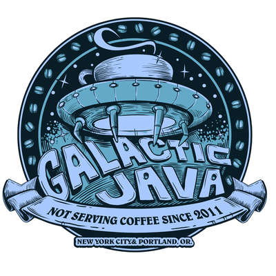 iconic logo for galactic java
