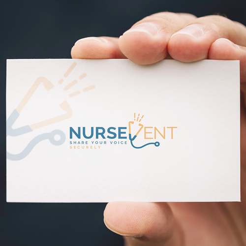 Stethoscope logo with the title 'Nurse Vent'