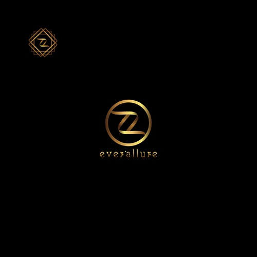 Brand mark logo with the title 'A timeless logo for EverAllure '