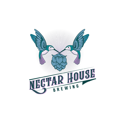 Nectar logo with the title 'Logo for a Brewery'