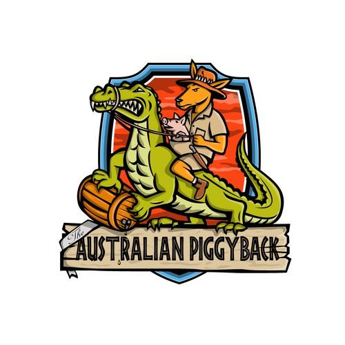 Crocodile logo with the title 'The Australian Piggyback'