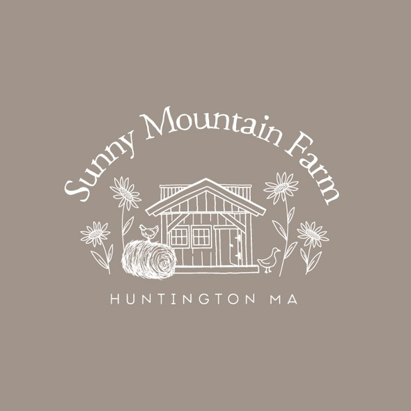 Neutral design with the title 'Sunny Mountain Farm'