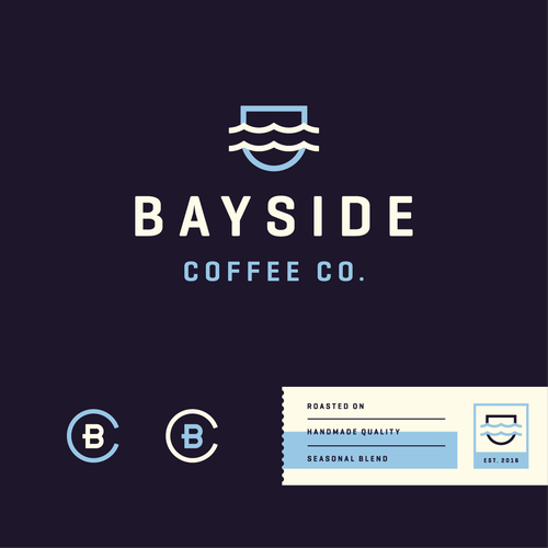 Australian logo with the title 'Logo for Bayside Coffee Co.'