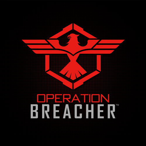 Eagle logo with the title 'Create a strong powerful Military design for Operation Breacher'