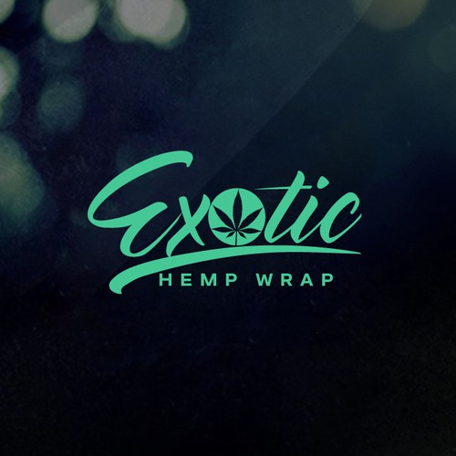Smoking logo with the title 'Design a original and flavorful logo for Exotic Hemp, hemp wraps'