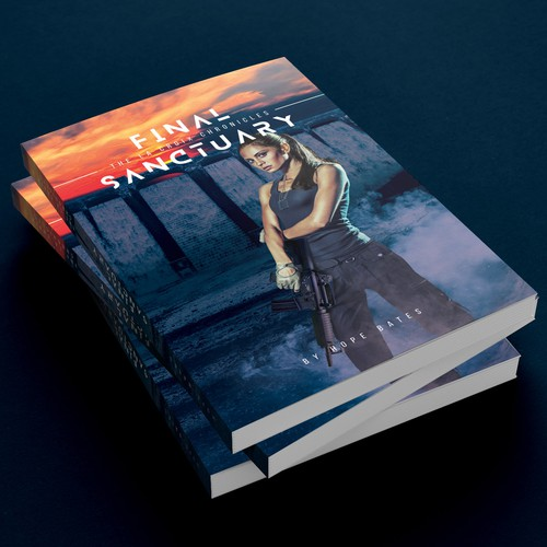 Girl book cover with the title 'Fiction Book Cover'