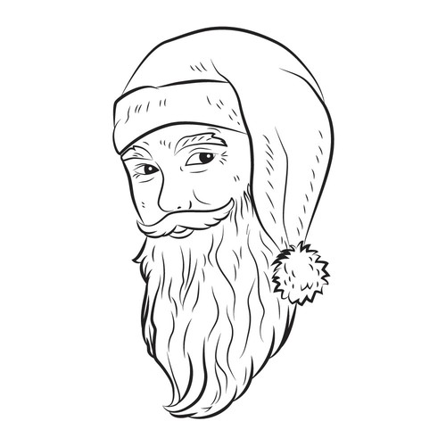 Santa Claus illustration with the title 'Santa Claus portrait.'