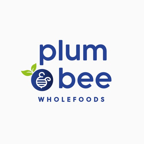 Honey design with the title 'Minimal Logo Concept for Plum & Bee'