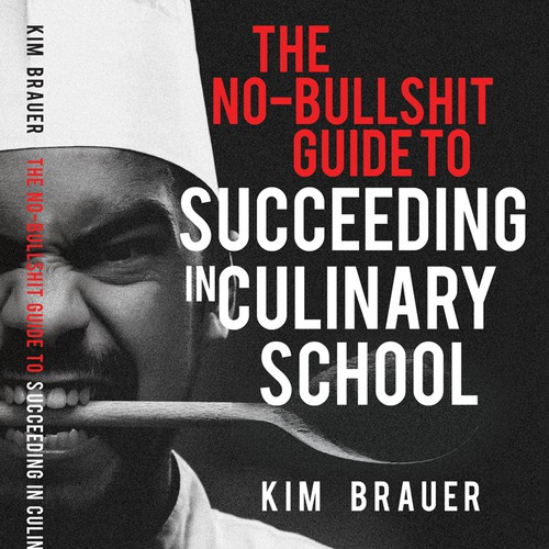 Chef design with the title 'Book cover design - Culinary school'