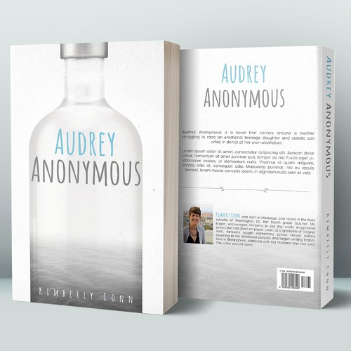 Minimal book cover with the title 'Audrey Anonymous'