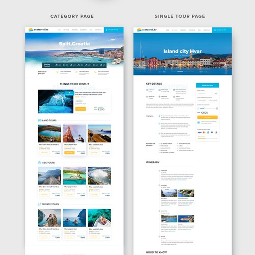 Tourism design with the title 'Travel agency needs a new website design'
