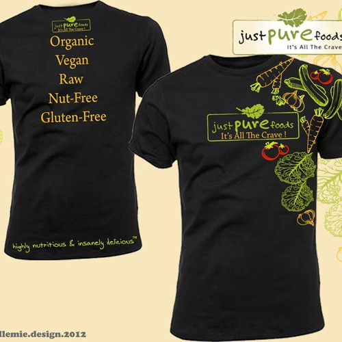 Food t-shirt with the title 'Organic Snack Co. Needs Earthy&Fun Shirt Design'