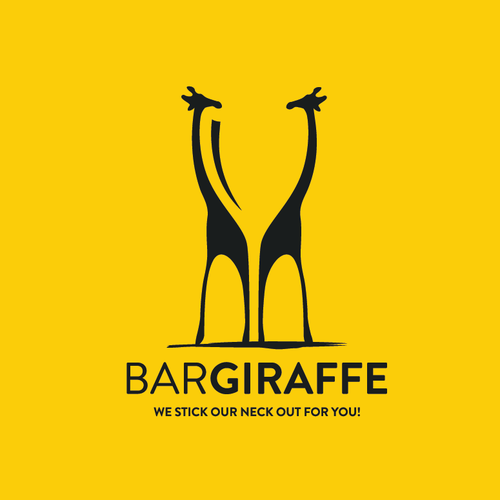 Glass logo with the title 'Bar Giraffe'