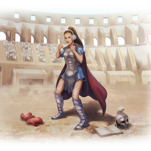 Poster illustration with the title 'Female Gladiator'