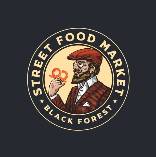 Gentleman logo with the title 'Logo design for Street Food Market'