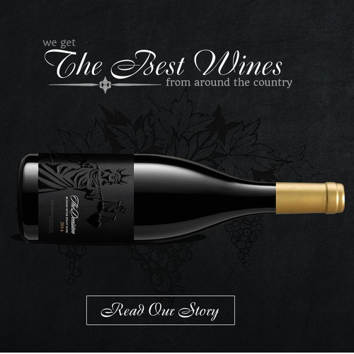 Wine website with the title 'Web page for a wine company'