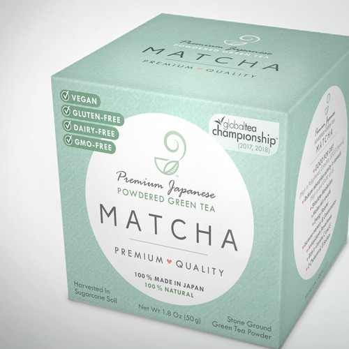 Pure packaging with the title 'Modern matcha packaging'
