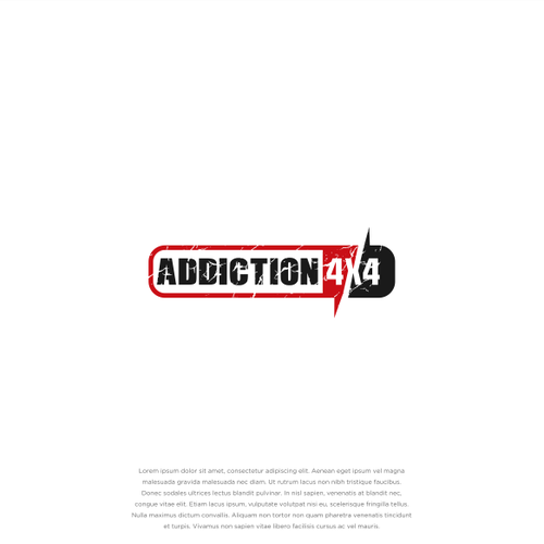 Jeep logo with the title 'ADDICTION 4X4'