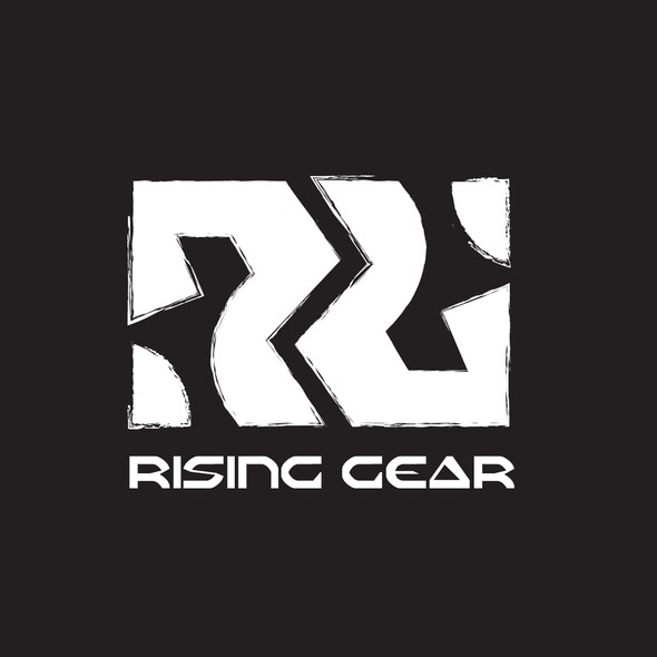 Rising logo with the title 'Rising Gear Logo'