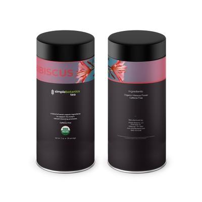 Hibiscus Tea Tin Label Design