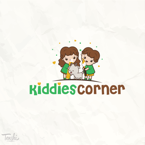 Nursery logo with the title 'Kids and goat'