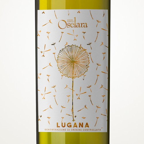 Italian label with the title 'White wine label'