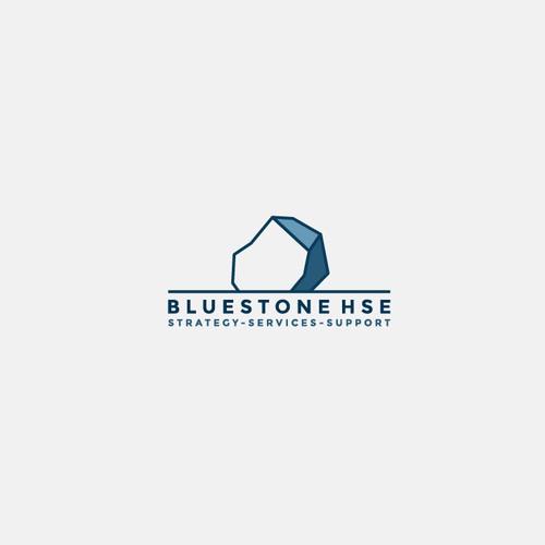 Stone logo with the title 'Bluestone logo'