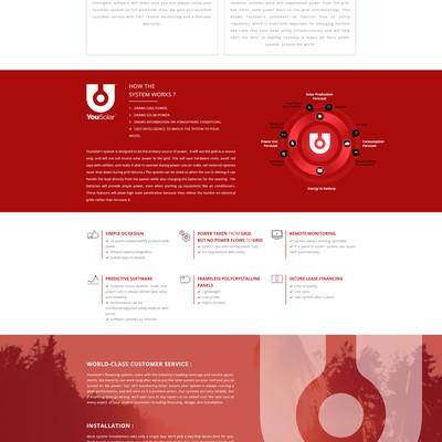 YouSolar - Creative Web Page Design