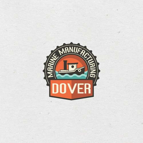 Marine logo with the title 'Logo concept for marine manufacturing company'