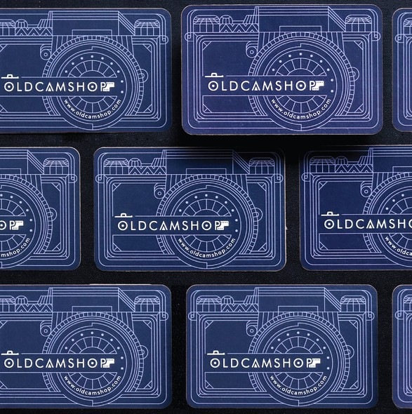 Print design with the title 'Oldcamshop Business Card'