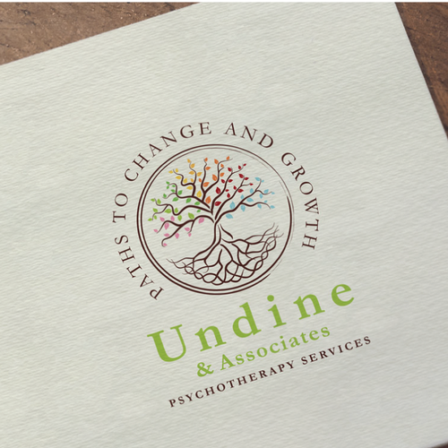 Celtic knot logo with the title 'Undine and Associates- Individual and Group Psychotherapy'