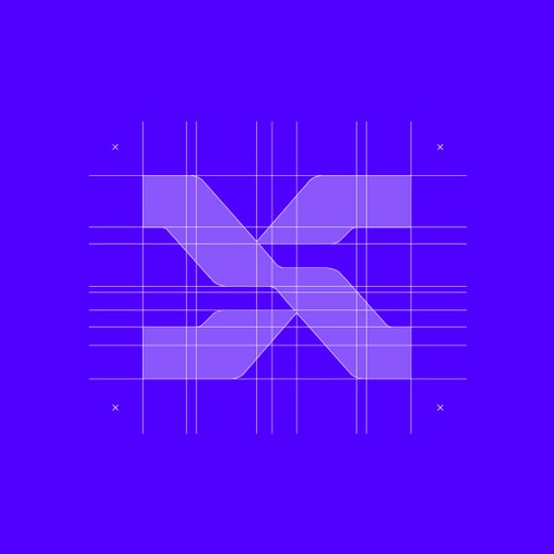 Purple brand with the title 'S monogram for tech brand.'