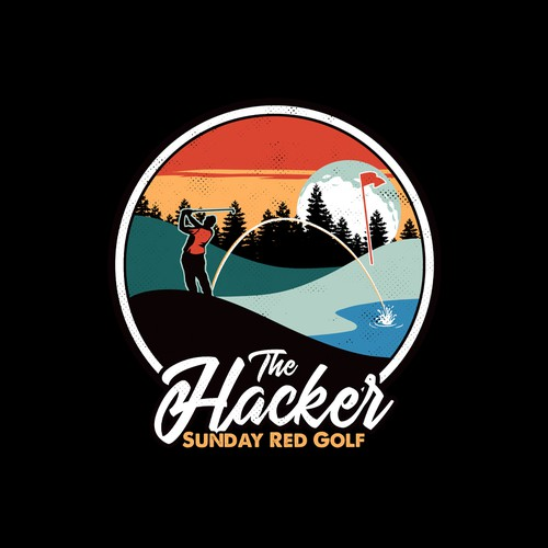 Golf design with the title 'The Hacker of Golf (funny intended)'