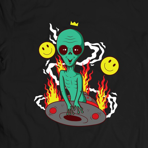 Alien t-shirt with the title 'Alien Has Landed!'
