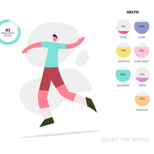 Health illustration with the title 'Infographics'