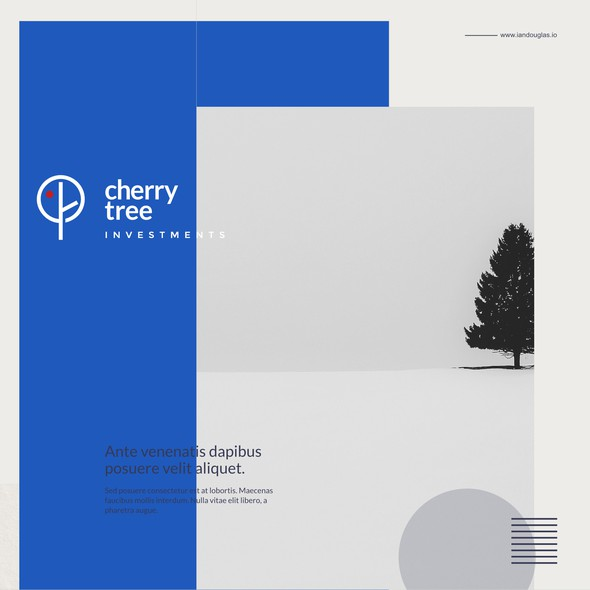 Bauhaus design with the title 'Minimalist and literal mark for Cherry Tree Investments'