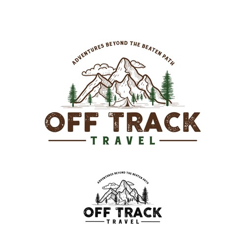 Vintage modern design with the title 'Off Track Travel'
