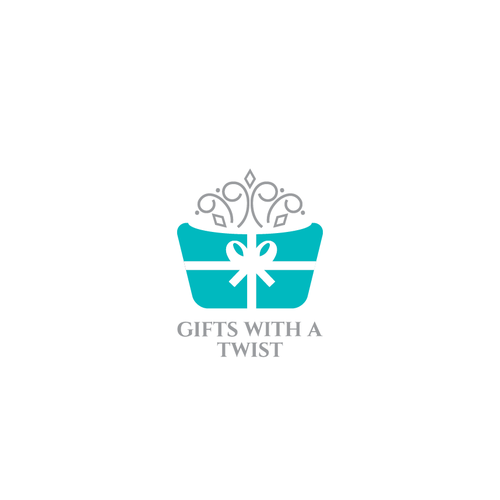 Basket logo with the title 'Gifts with a twist'