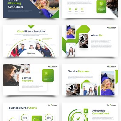 Design a Keynote (or PP) slide deck for college consultants