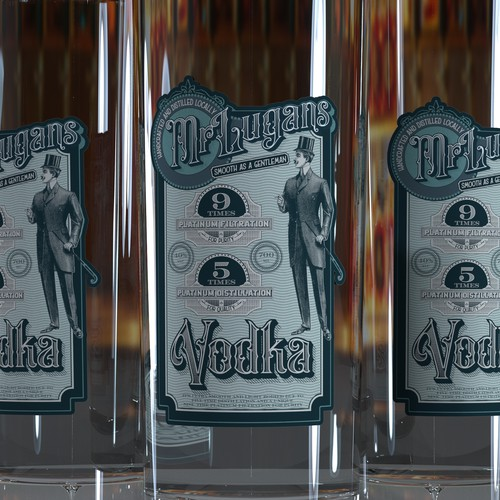 Vodka design with the title 'Vodka label'