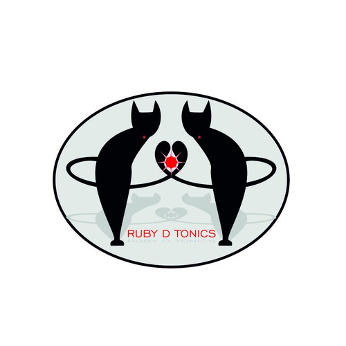 Cat design with the title 'Logo for Ruby D Tonics -- need elegant simplicity!'