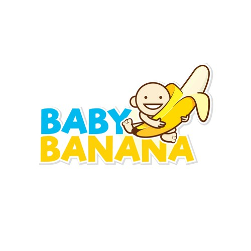 Banana logo with the title 'Logo design'