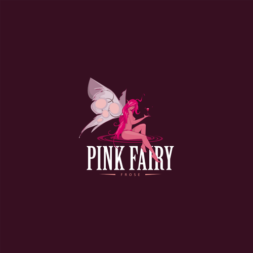 Magical logo with the title 'Frozen Wine Beverages Logo'