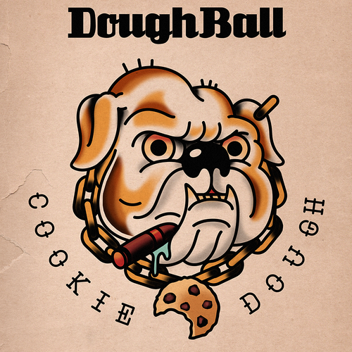 Tattoo artwork with the title 'Coockie dough'