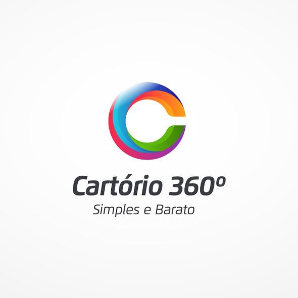 Certificate design with the title 'Cartório 360 Logo&Website'