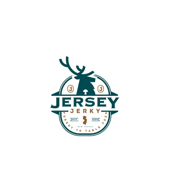 """Jerky logo with the title 'Logo design for """"Jersey Jerky""""'"""