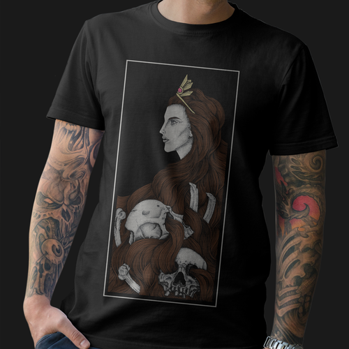 Dark t-shirt with the title 'Illustration for t shirt design'