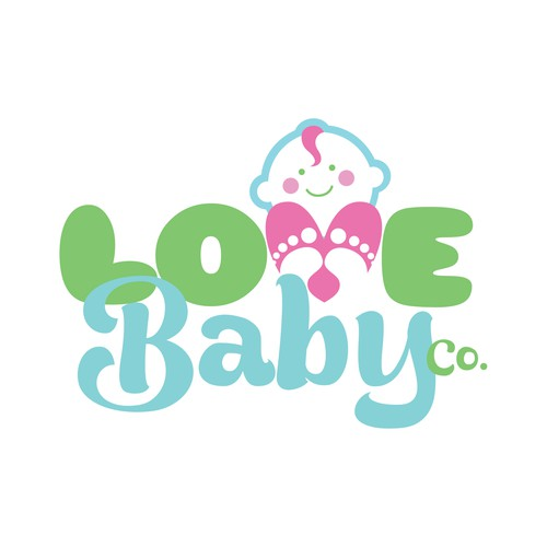 Newborn logo with the title 'Logo for a baby boutique'